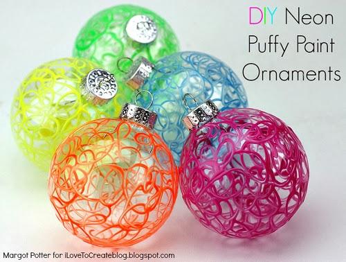 diy puffy paint ornaments three iltc  u2013 glass art